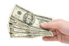 Money in hand Stock Photos