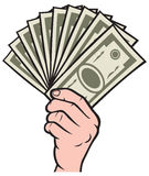 Money in the hand. Hand with money, Hand holding Banknotes Royalty Free Stock Image