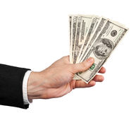 Money in a hand Royalty Free Stock Photo