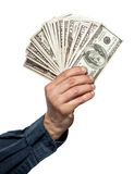 Money in a hand Stock Images