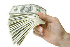 Money in hand Stock Photo