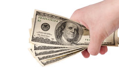 Money in the hand Royalty Free Stock Image