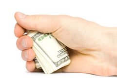 Money in hand Royalty Free Stock Photos