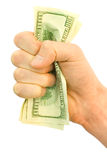 Money with hand Stock Photography