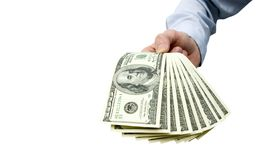 Money in hand Royalty Free Stock Image