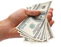 Money in the Hand Stock Images