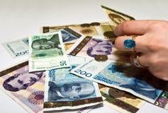 Money hand stock photos