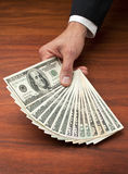 Money Hand Business Cash Dollars stock photos