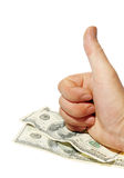 Money, hand gestures, (OK) Royalty Free Stock Photo