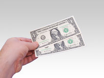 Money in Hand -Graded Background Royalty Free Stock Image