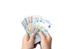 Money in the hand. Royalty Free Stock Image