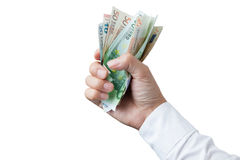 Money in the hand Stock Image