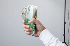 Money in the hand Royalty Free Stock Photography