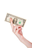 Money in hand Royalty Free Stock Photography