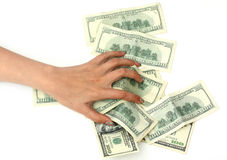 The money in hand isolated on Royalty Free Stock Photos