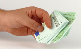 Money in the hand Stock Photography