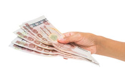 Money in the hand Royalty Free Stock Images