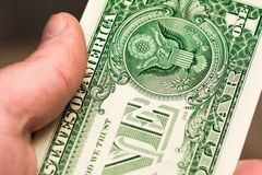 Money in hand. USA dollars. Money in hand Royalty Free Stock Photo