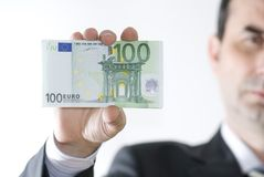 Money in hands. Businessman hold money in hands Royalty Free Stock Images