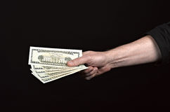 Money on the hands Stock Photos