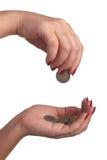 Money hands Royalty Free Stock Photos