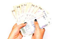 Money in hands Royalty Free Stock Photos