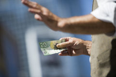 Money in the hands Stock Photography