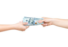 Money on the hands, Stock Photography