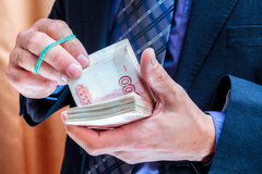 Money in hands Royalty Free Stock Images