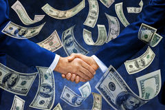 Money Handshake America Business Stock Image