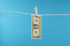 Money Hanging Out To Dry Royalty Free Stock Image