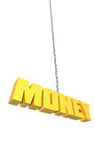 Money hanging by a thread Royalty Free Stock Image