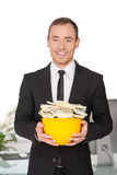 Money in hardhat. Royalty Free Stock Photography
