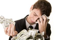 The money has simply vanished Stock Photo