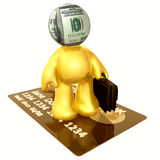 Money head businessman icon figure Royalty Free Stock Photos