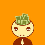 Money on head Royalty Free Stock Photography
