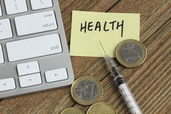 Money and health Stock Photos