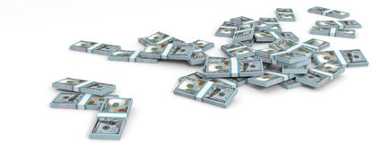 Money heap. New one hundred dollars. Royalty Free Stock Photo