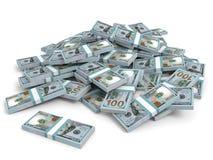 Money heap. New one hundred dollars. Stock Photography