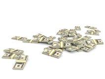 Money heap. One hundred dollars. Stock Photo