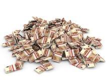 Money heap. One hundred euro. stock illustration