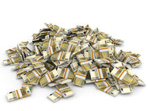 Money heap. One hundred euro. Stock Image
