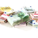 Money in a heap - stack. Square - Copy Space Royalty Free Stock Image