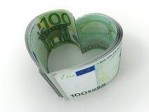 Money. Heart. On white background. 3d vector illustration