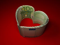 Money. Heart Stock Photography