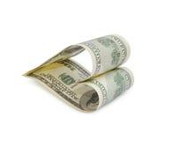 Money heart Royalty Free Stock Photos