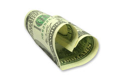 Money Heart. This is the heart symbol from one hundred dollars banknote Royalty Free Stock Photography