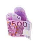 Money heart Royalty Free Stock Photo