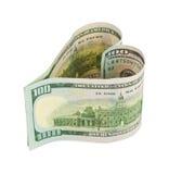Money heart Royalty Free Stock Image