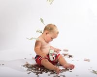Money from heaven Royalty Free Stock Photography